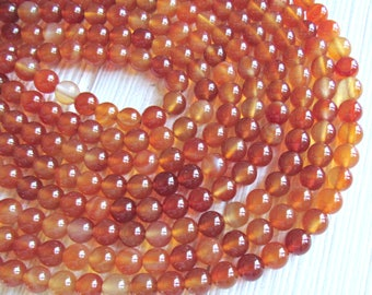 8mm orange Carnelian beads A quality gemstones Red Carnelian Beads full strand Round beads jewelry supply US seller natural stone beads