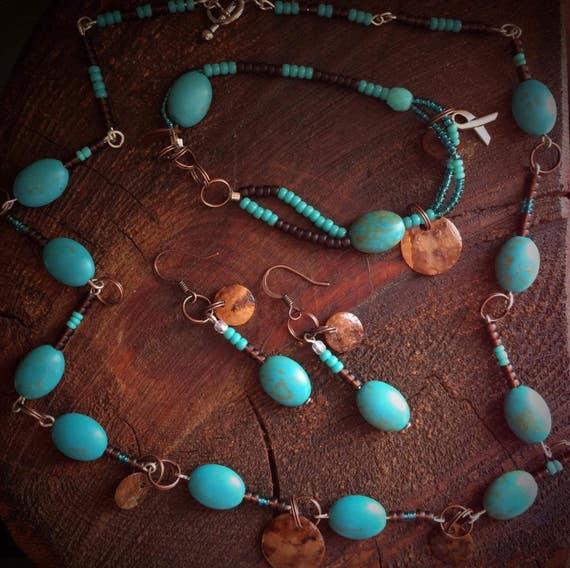 Elegant Chocolate and Turquoise SpeakSet