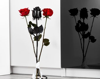 Hand Forged Iron Rose - Free Standing - 6th Anniversary Gift Everlasting Rose - Sixth Anniversary idea