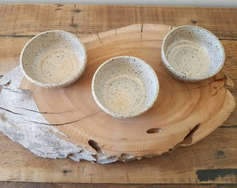 Set of three condiment bowls