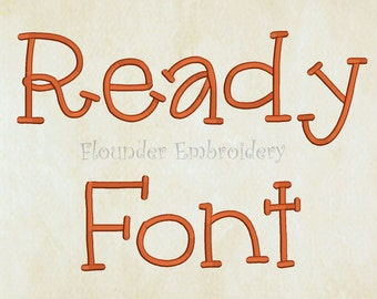 Ready Embroidery Font 5 Size Embroidery Designs Fonts INSTANT DOWNLOAD