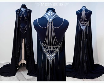 Chain coat - Cape coat with chains wedding Gothic fantasy