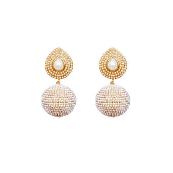 Pearl Classic Elegant Round earrings