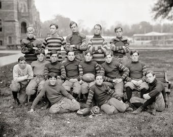 Georgetown Football Photo, early 1900s, Georgetown University, Washington DC, Georgetown Fans, Black White, Gift, Football Players