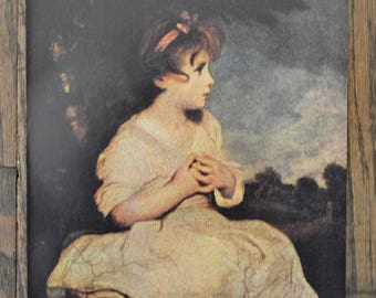 Vintage Print of Reynold's Painting 'The Age of Innocence'