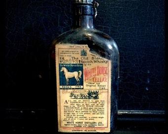 Vintage Scotch Whisky Bottle | White Horse Cellar Scotch Whisky | Bottle And Box