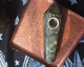 Flashy labradorite pipe