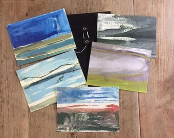 Set of 5 Postcards - Fiona Charis Carswell Landscape Series (Complete) - RiverRunning Cards