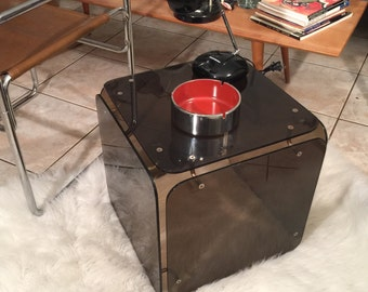 Mid Century Lucite Cube Gerald McCabe