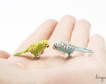 Tiny Budgerigar, Miniature Budgie, Tiny crochet bird, amigurumi bird
