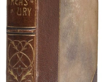 The Golden Treasury, 1902 (Antique book, brown gilt tooled binding with marbled sides)