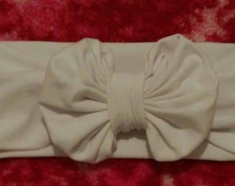 Bubble bow headband WHITE