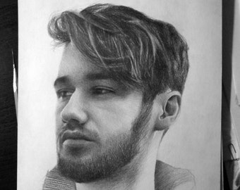 Custom portrait from photo, pencil drawing, portrait  Commissions.