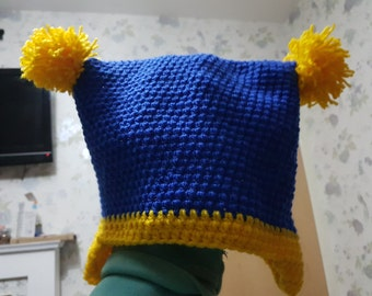 Blue and Yellow Jester Hat