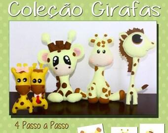 PDF Pattern Felt Coleção Girafas