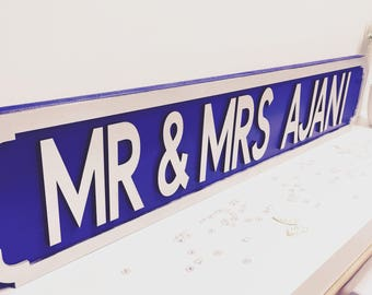 Wedding street signs