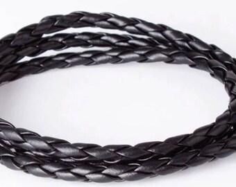 Mens leather wristband bracelet