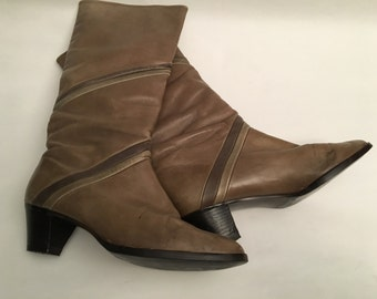 Remonte,  80s leather boots - size 6.5