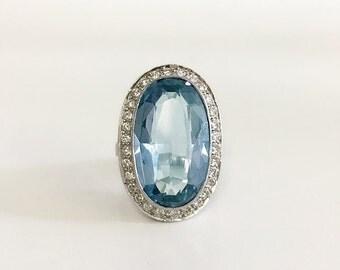 11.74ct Sapphire, Diamond, Platinum Ring
