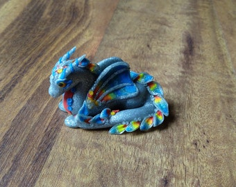 Polymer Clay Fire and Ice Dragon