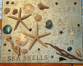 handmade shell painting