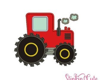 Red Tractor Machine Embroidery Designs Applique Red Tractor