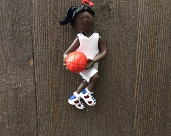 Personalized ornament basketball girl