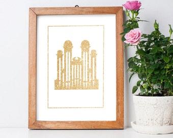 Modern Mormon Tabernacle Printable 8.5x11 Poster