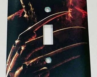 Freddy Krueger Metal Light Switch Plate