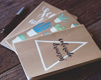 custom handlettered moleskine sketchbooks // notebooks