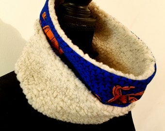 Ankara fleece neck warmer
