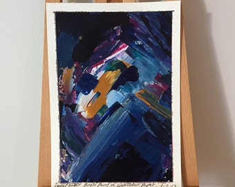 Remnant IV - Original Abstract Acrylic Painting on A5 Watercolour Paper