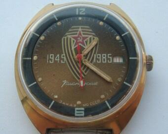WOSTOK VOSTOK soviet watch 40 Victory jubilee ussr collectible vintage wristwatch