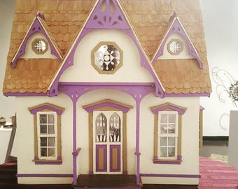 Finished Orchid All Wood Dollhouse