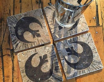 Star Wars-Inspired Rebel Coasters