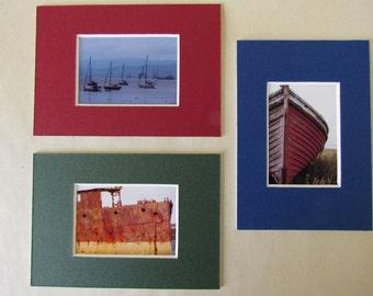 Orkney boats: set of 3 mount-cards