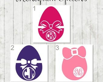 Easter Egg Monogram - Personalized Easter Decal - Custom Easter Gift - Easter Bucket Decal - DIY Easter Gifts - Egg Decal - Easter Egg Decal