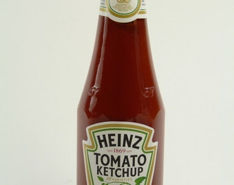 Solid Sterling Silver LID - Tomato KETCHUP Bottle - 300ml / 342g - Boxed!