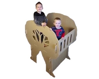 Children's Playhouse - Indoor Playhouse - Treehouse - FREE SHIPPING - Gift for Grandkid - Nephew - Niece - Christmas Gift for 5 Year Old