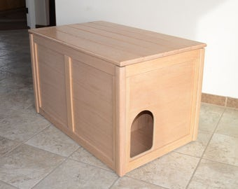Oak Cat Litter Box Furniture