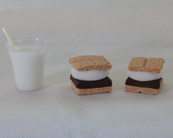 Doll food~18 inch doll Milk and S'mores