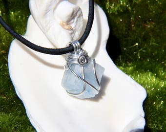 Blue Calcite Crystal Necklace Raw Crystal Choker Raw Crystal Necklace Natural Crystal Boho Jewelry Raw Stone Jewelry Healing Stone Jewelry