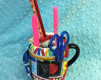 Mugs with quilted covers