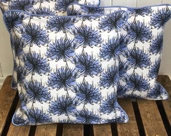 Agapanthus Digital Print Cushion
