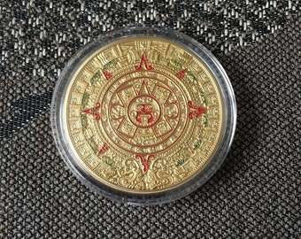 Aztec Mayan Calendar Coin