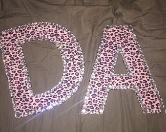 Letter w/ Fabric & Bedazzle