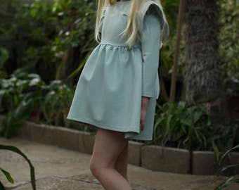 PASTEL MINT dress with wings