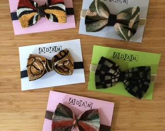 ADAM'S LINES - Crazy, funny, lovely, unique, felt bow ties, hand-made by a designer! Makes any man smile and happy!
