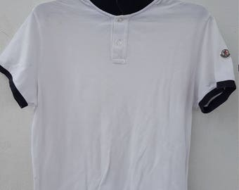 Moncler Polo Shirt White Colour XXL Size