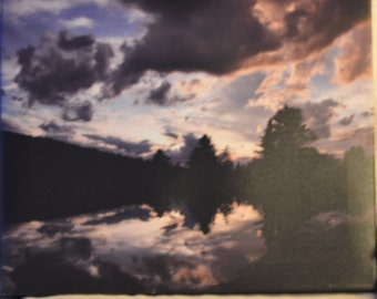 16x20 sunset reflection photo canvas print